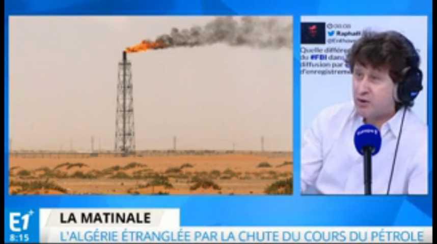 Illustration pour la vidéo Chute du cours du pétrole : l'Algérie prise à la gorge
