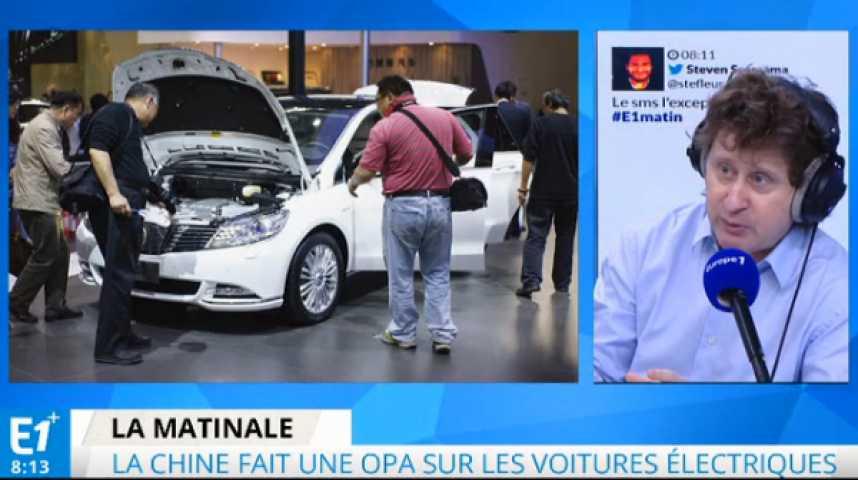 Illustration pour la vidéo La Chine en pointe sur les voitures électriques