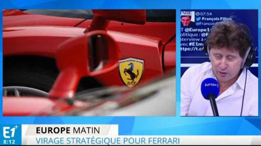Illustration pour la vidéo Le luxe Ferrari entre à Wall Street