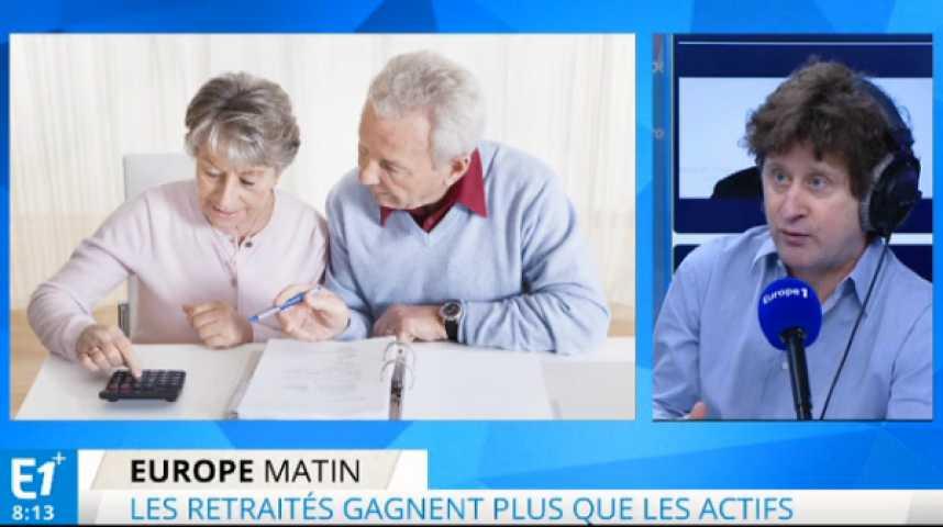 Illustration pour la vidéo Les retraités gagnent plus que les actifs