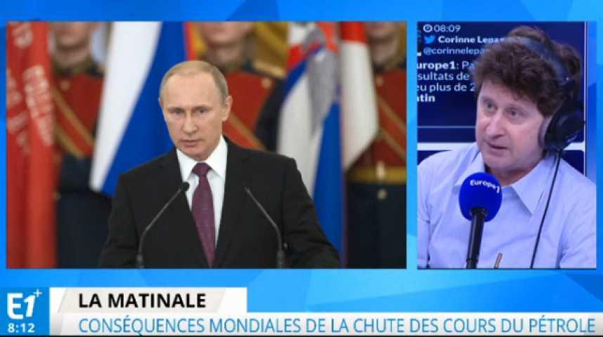 Illustration pour la vidéo Chute des cours du pétrole : Poutine au pied du mur