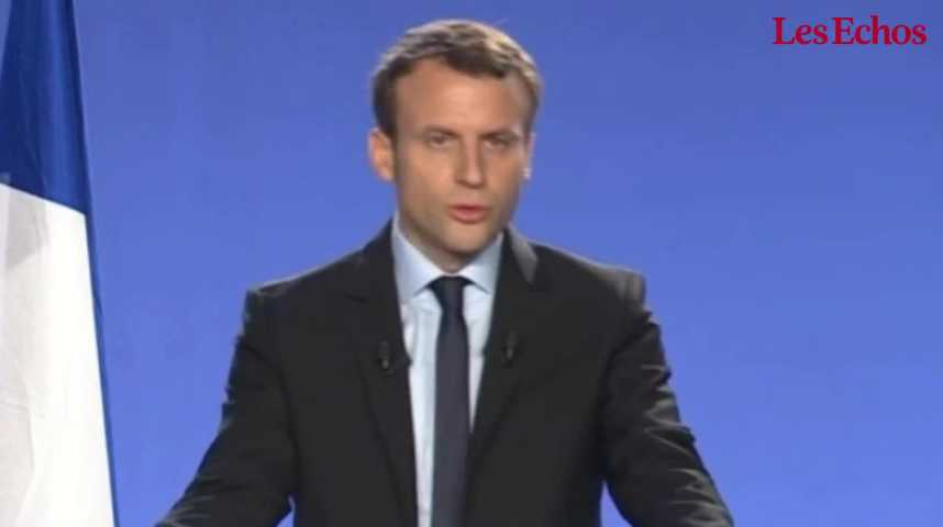 Illustration pour la vidéo Emmanuel Macron se déclare candidat pour la présidentielle