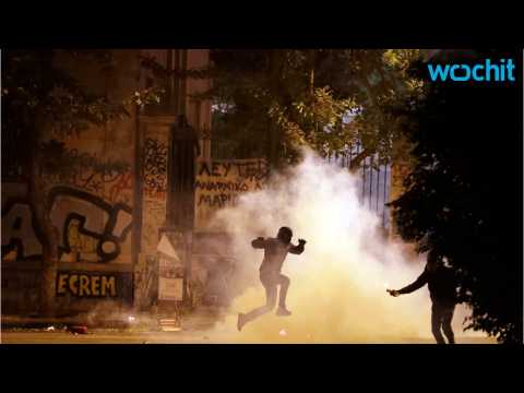 Protest Becomes Violent In Athens