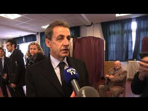 Sarkozy casts vote as French right holds presidential primary