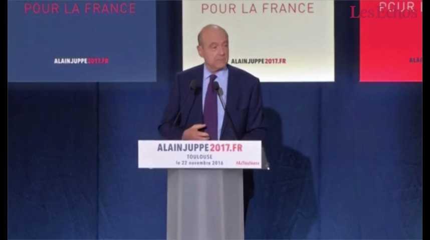 Illustration pour la vidéo « Le programme économique de François Fillon est mal étudié, ne tiendra pas la route et sa brutalité le condamne à l'échec », selon Alain Juppé