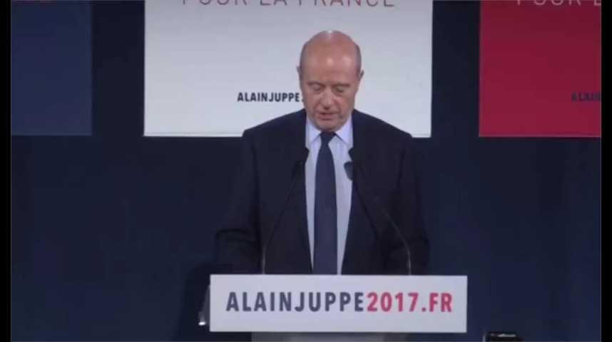 Illustration pour la vidéo Alain Juppé : «J'ai donné 40 ans de ma vie au service de la France et cela m'a apporté de grands bonheurs et quelques peines »