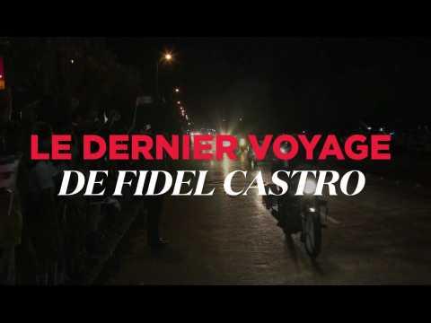 Le dernier voyage de Fidel Castro à travers Cuba