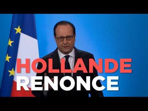 """Hollande : """"J'ai décidé de ne pas être candidat à l'élection présidentielle"""""""