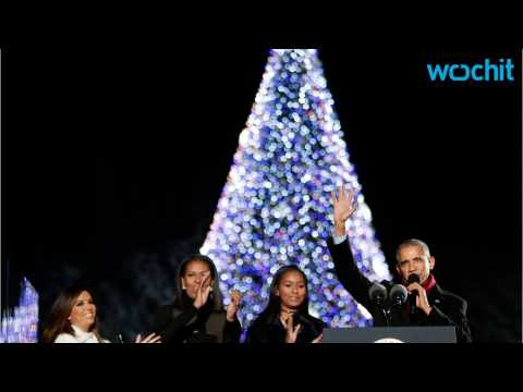 First Family Kicks Off The Holiday Season With National Christmas Tree Ceremony