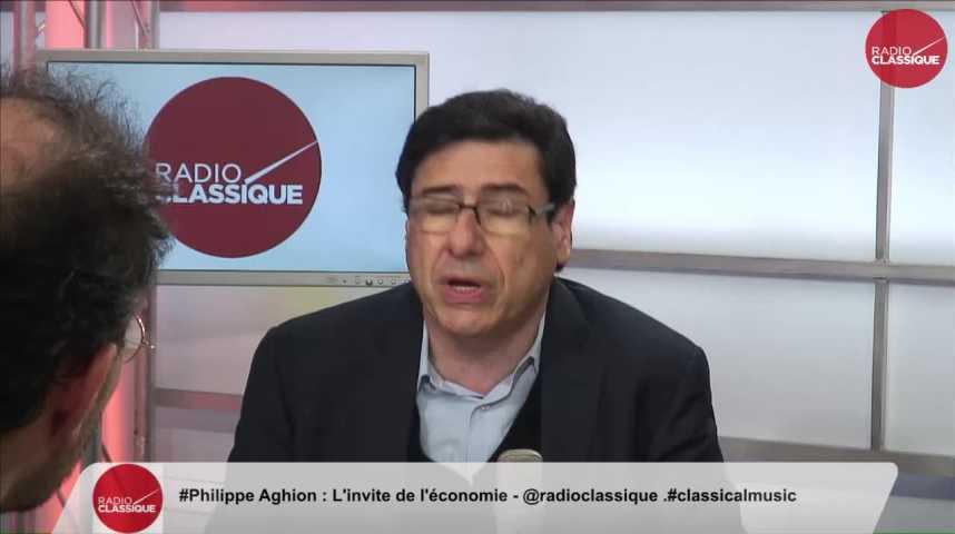 """Illustration pour la vidéo """"François Hollande pensait que la croissance allait venir de toutes façon"""" Philippe Aghion (02/12/2016)"""