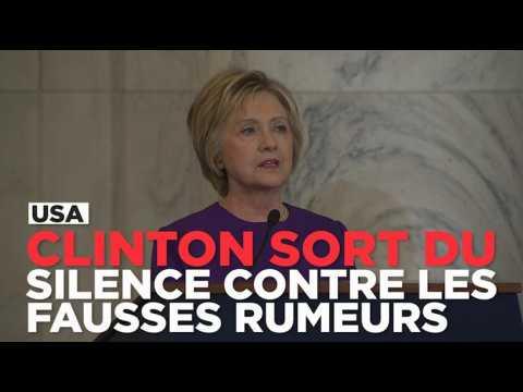 """Clinton dénonce """"l'épidémie de fausse propagande qui inonde les réseaux sociaux depuis un an"""""""