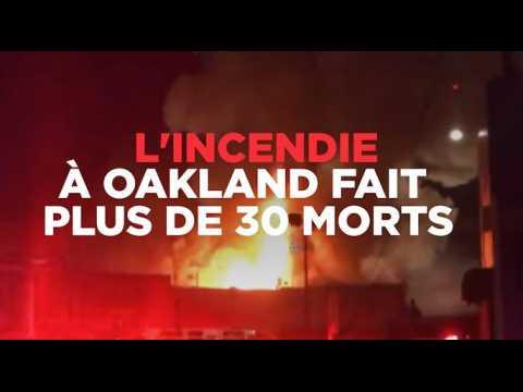"""Incendie du """"Vaisseau fantôme"""" à Oakland : plus de 30 morts"""