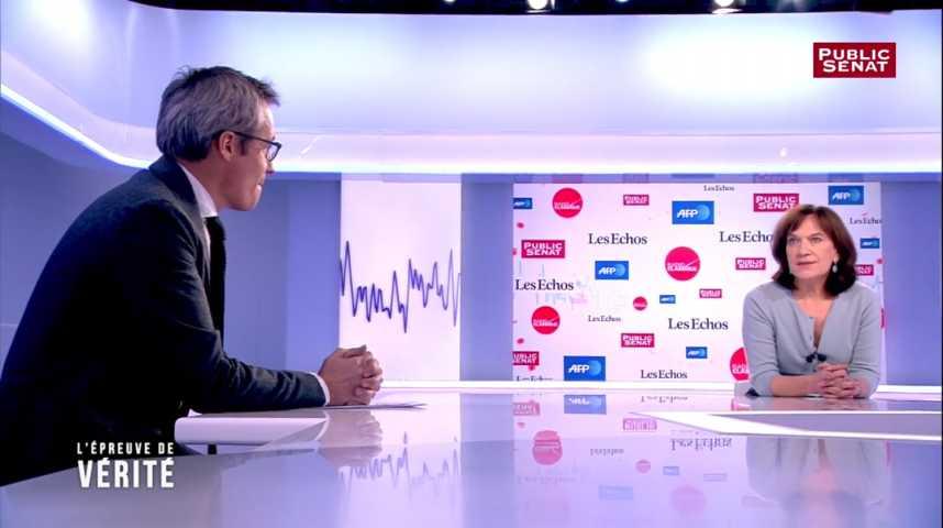 Illustration pour la vidéo Laurence Rossignol apporte son soutien à Manuel Valls