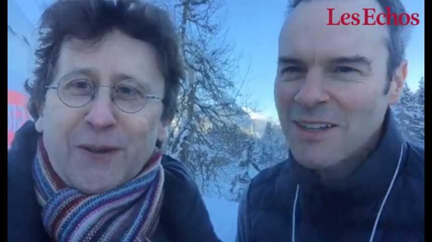 Illustration pour la vidéo Le Brexit s'invite à Davos : l'analyse (fraiche) de Nicolas Barré et David Barroux