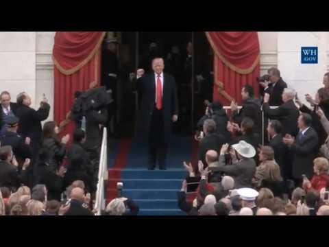 L'arrivée de Donald Trump à la cérémonie d'investiture