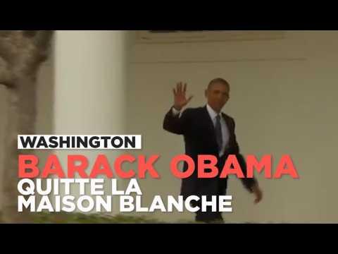 Barack Obama pour la dernière fois dans le bureau ovale