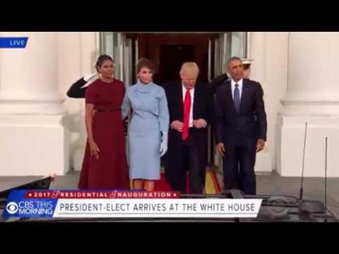 Barack Obama accueille Donald Trump à la Maison-Blanche