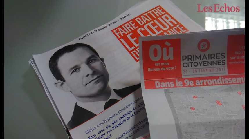 Illustration pour la vidéo Les petites mains de la présidentielle : avec les colleurs d'affiches de Benoît Hamon