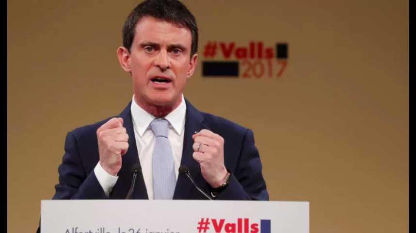 """Illustration pour la vidéo Valls durcit le ton sur le programme de Hamon : """"la gauche s'effondrerait et perdrait toute crédibilité"""""""