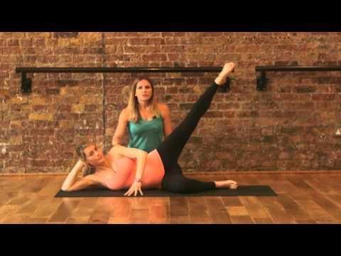 Pregnancy exercises - leg lifts