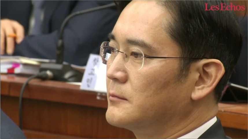 Illustration pour la vidéo Samsung sous le choc de l'arrestation de son leader pour corruption