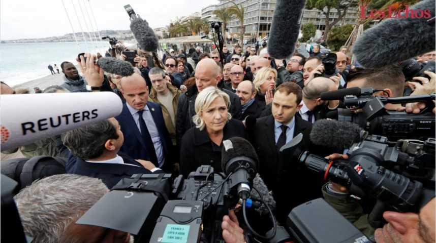 Illustration pour la vidéo Marine Le Pen en pleine tourmente