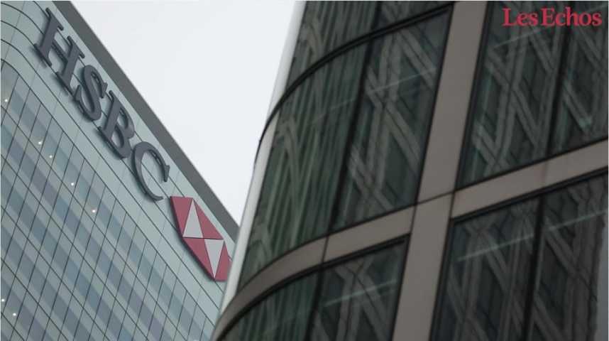 Illustration pour la vidéo Pourquoi le bénéfice de HSBC a plongé de 62% ?