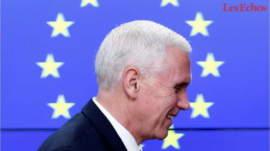Illustration pour la vidéo A Bruxelles, Mike Pence se veut rassurant