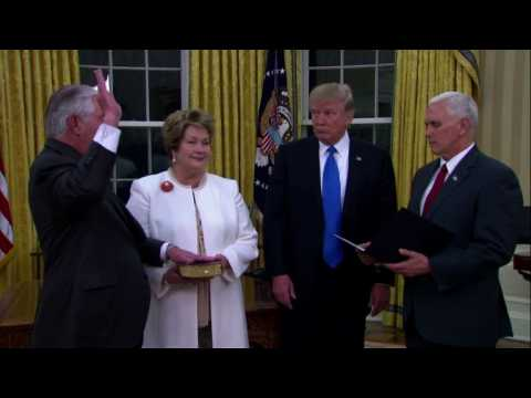 Rex Tillerson takes charge of US State Department