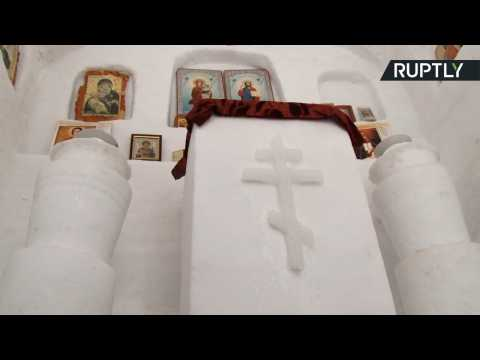 Siberian Man Builds Complete Russian Orthodox Church Out of Snow