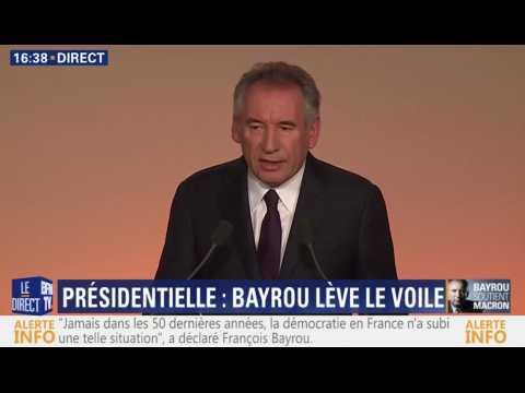 """Bayrou : """"J'ai décidé de faire à Emmanuel Macron une offre d'alliance"""""""
