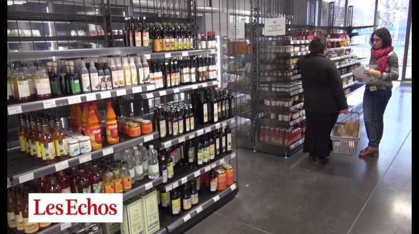 Illustration pour la vidéo Dans ce supermarché, les clients sont bénévoles et actionnaires