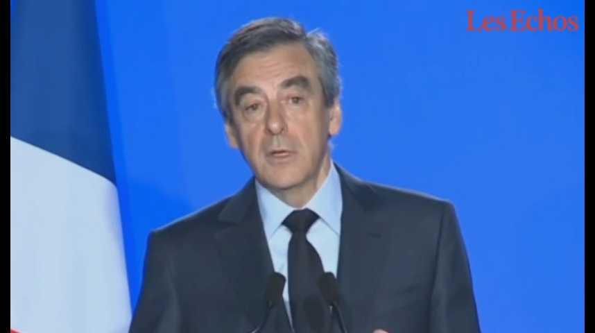 Illustration pour la vidéo « Oui, je serai candidat » : (ré)écoutez l'intégralité de la déclaration de François Fillon