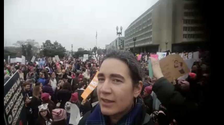 Illustration pour la vidéo Grosse mobilisation pour la Marche des femmes à Washington