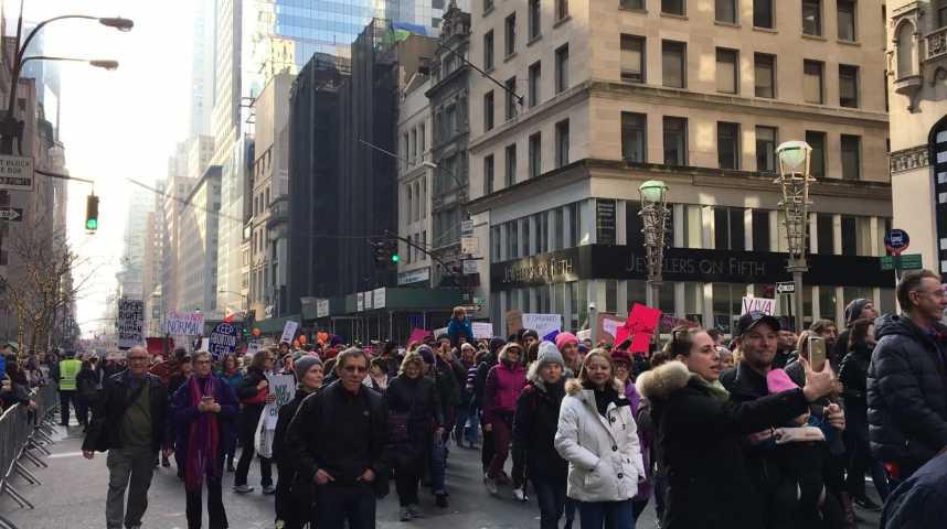 Illustration pour la vidéo La Marche des femmes à New York contre Trump