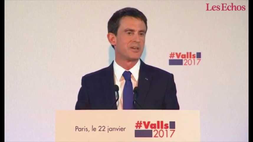 """Illustration pour la vidéo Primaire de la gauche : Hamon joue le """"renouveau"""", Valls la """"crédibilité"""""""