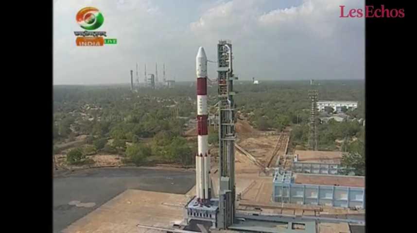 Illustration pour la vidéo L'Inde place 104 satellites en orbite avec une seule fusée