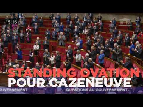 Standing ovation pour Cazeneuve à l'Assemblée nationale
