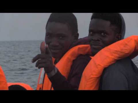 Spanish NGO rescues migrant boat in the Mediterranean