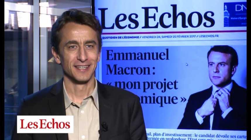 Illustration pour la vidéo Décryptage de l'interview d'Emmanuel Macron aux Echos