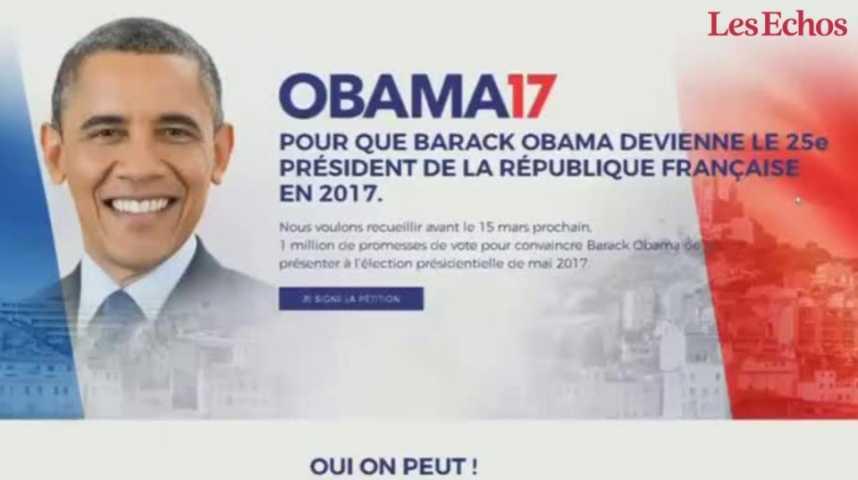 Illustration pour la vidéo Présidentielle 2017 : une pétition réclame la candidature d'Obama !