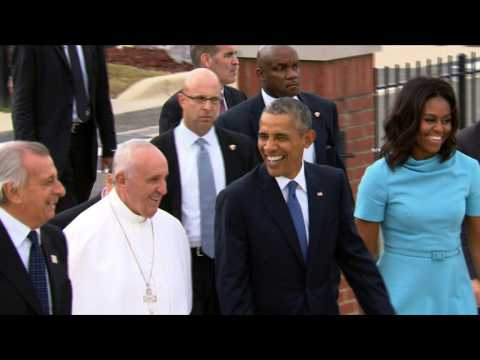 Pope Francis arrives in the US for a six-day visit