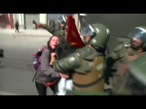Chilean protesters, police clash on anniverary of Pinochet-led coup