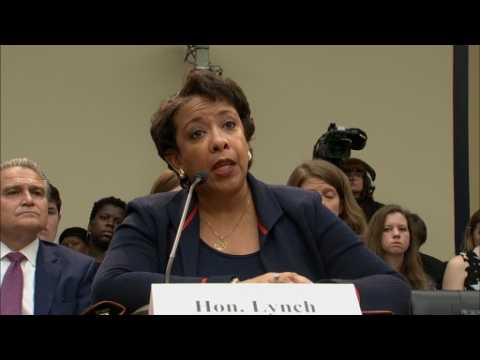 """""""No need for recusal"""" in Clinton investigation: Lynch"""