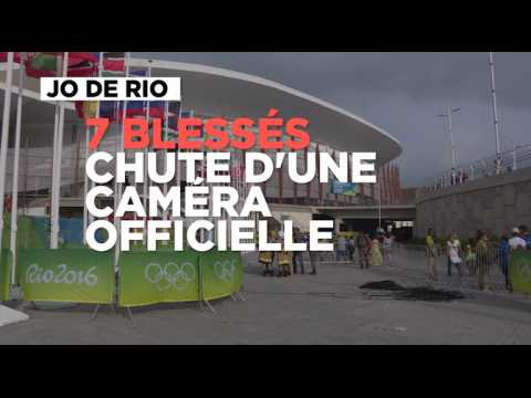 JO : la chute d'une grosse caméra officielle fait sept blessés