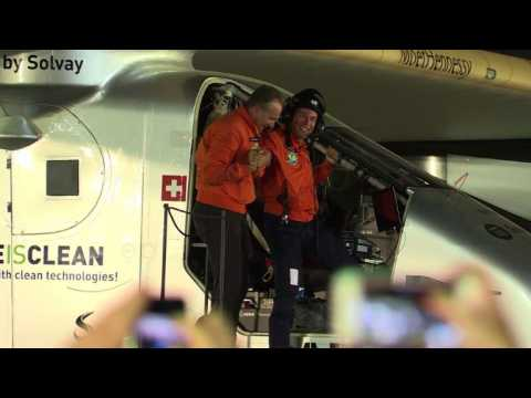 Solar plane completes historic round-the-world trip