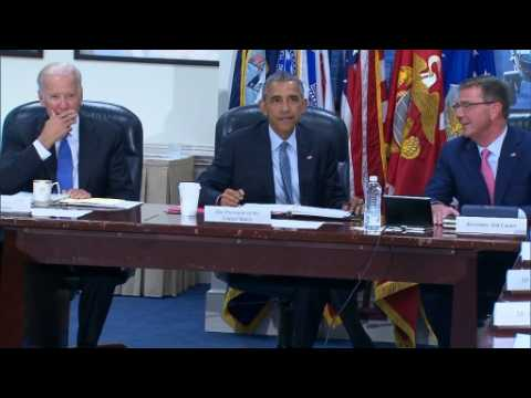 Obama, military commanders meet over ISIS plan
