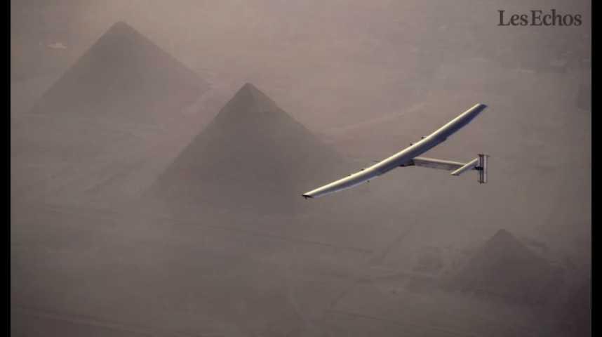 Illustration pour la vidéo L'Egypte, avant-dernière étape du tour du monde de Solar Impulse