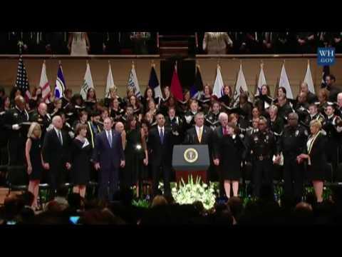 George W. Bush Dances to Battle Hymn at Dallas Memorial