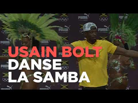 JO de Rio : à l'aise, Usain Bolt danse la samba